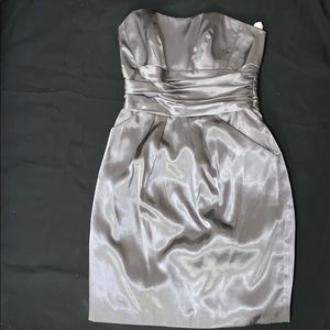 Silver/gunmetal cocktail dress